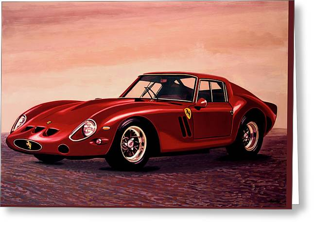Ferrari 250 Gto 1962 Painting Greeting Card