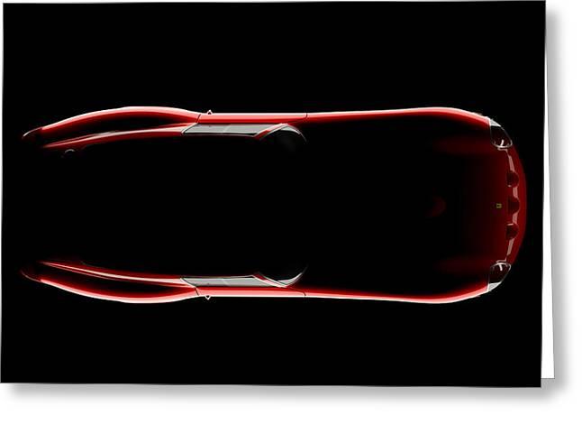 Ferrari 250 Gto - Top View Greeting Card