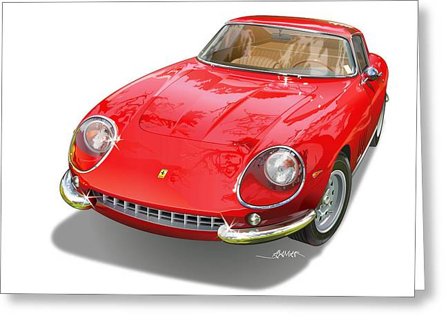 Ferrari 275 Gtb Illustration Greeting Card by Alain Jamar
