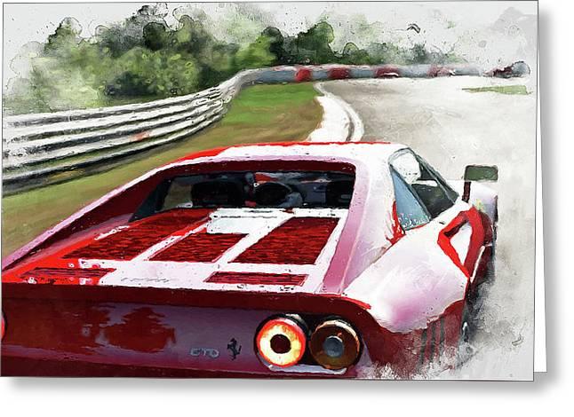 Ferrari 288 Gto - 32 Greeting Card by Andrea Mazzocchetti