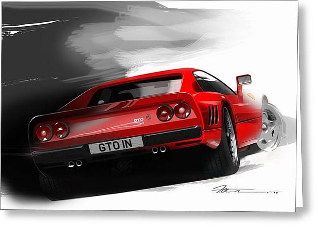Ferrari 288 Gto Greeting Card by Fred Otene