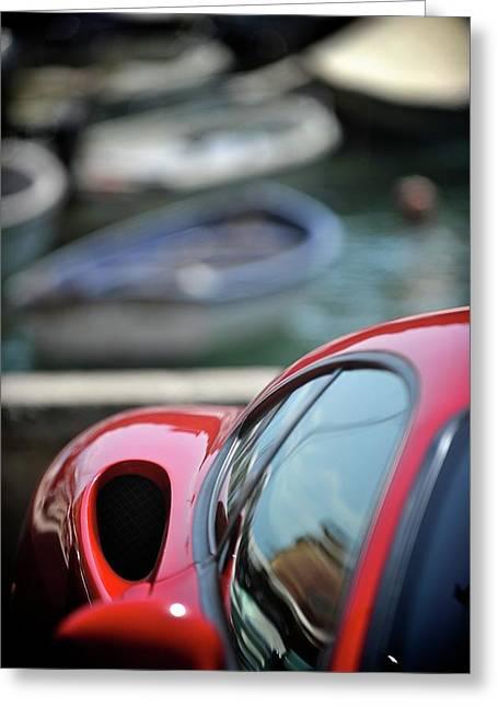 Ferrari 3 Greeting Card by Bobby Bouchikhi