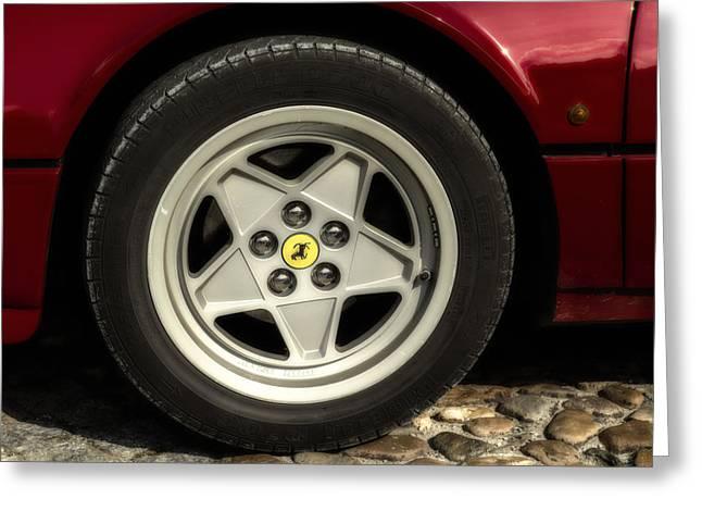 Ferrari 308 Wheel Greeting Card by Georgia Fowler