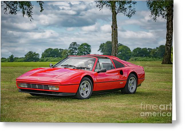 Ferrari 328 Gts Greeting Card by Adrian Evans