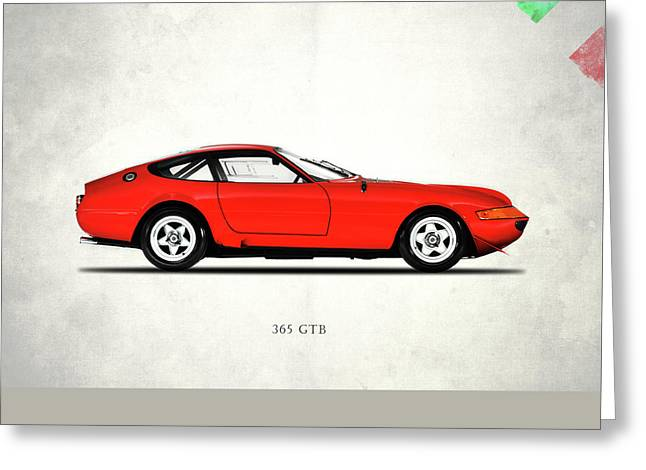Ferrari 365 Gtb-4 Greeting Card by Mark Rogan