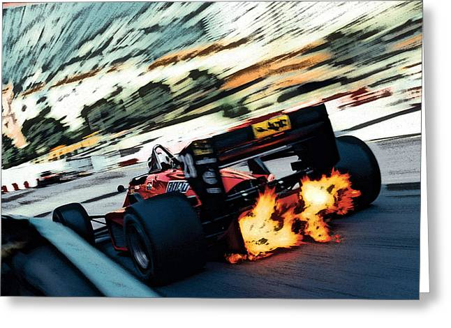 Ferrari 156/85 V6 Greeting Card