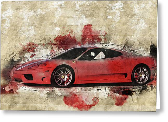 Greeting Card featuring the photograph Ferrari 430  by Joel Witmeyer