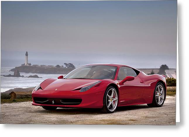 Ferrari 458 Italia Greeting Card