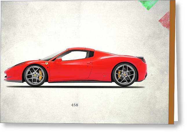 Ferrari 458 Italia Greeting Card by Mark Rogan