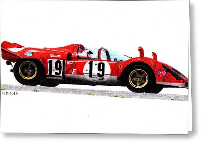 Ferrari 512s Mario Andretti 1970 Greeting Card by Ugo Capeto