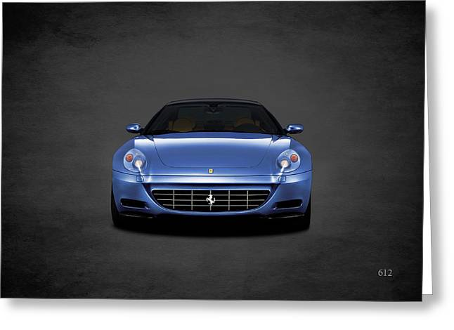 Ferrari 612 Greeting Card by Mark Rogan