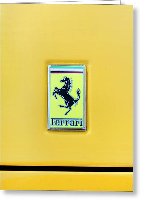 Ferrari Badge Greeting Card by Theresa Tahara