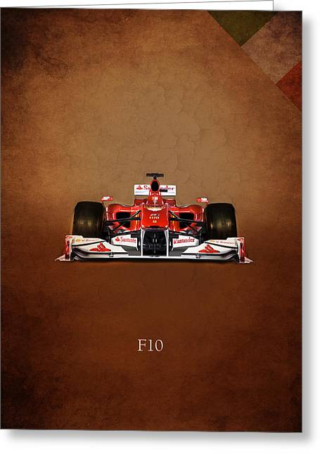 Ferrari F10 Greeting Card by Mark Rogan