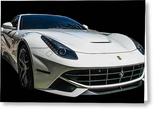 Ferrari F12 Berlinetta In White Greeting Card