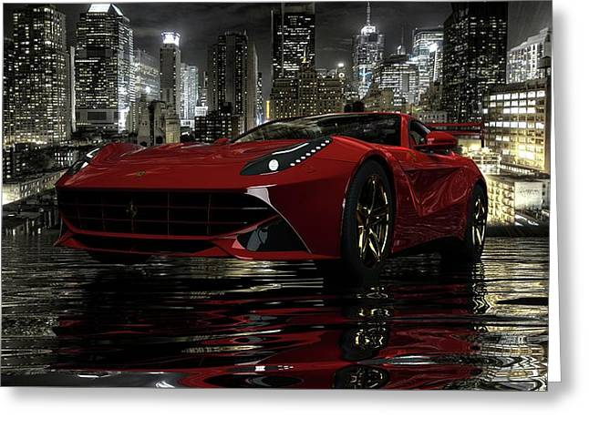 Greeting Card featuring the photograph Ferrari F12berlinetta by Louis Ferreira