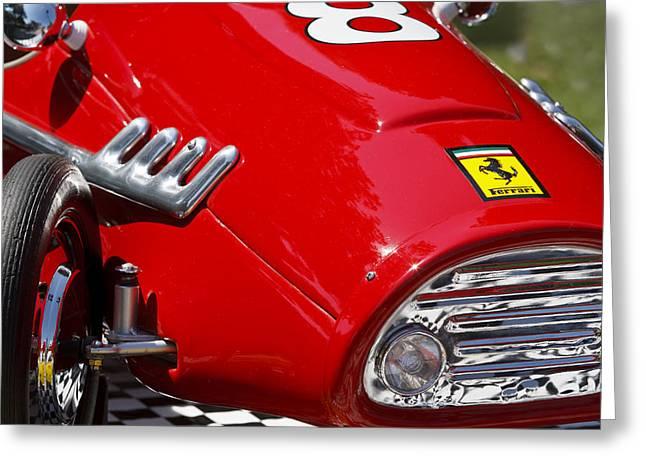 Pedal Car Greeting Cards - Ferrari F2 Greeting Card by Dennis Hedberg