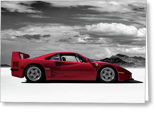 Ferrari F40 Greeting Card