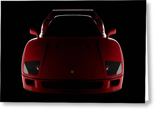 Ferrari F40 - Front View Greeting Card