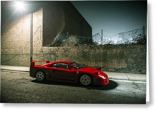 Ferrari F40 Lurking Greeting Card