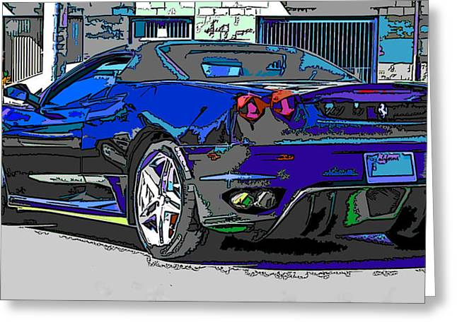 Ferrari F430 Spyder Greeting Card