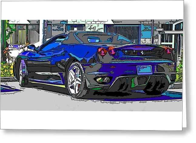 Ferrari F430 Spyder Greeting Card by Samuel Sheats