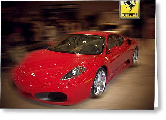 Ferrari F430 - The Red Beast Greeting Card by Serge Averbukh