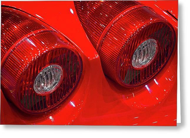 Ferrari Tail Lights Greeting Card
