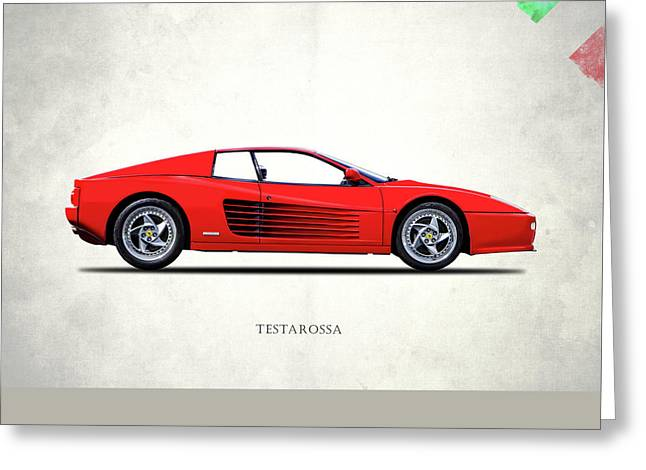Ferrari Testarossa 96 Greeting Card by Mark Rogan