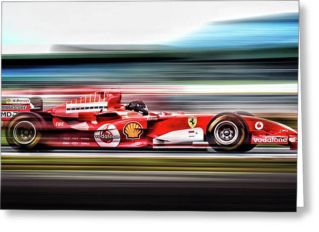 Ferrari Unbridled Greeting Card by Peter Chilelli