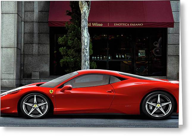 Ferrari Wine Run Greeting Card