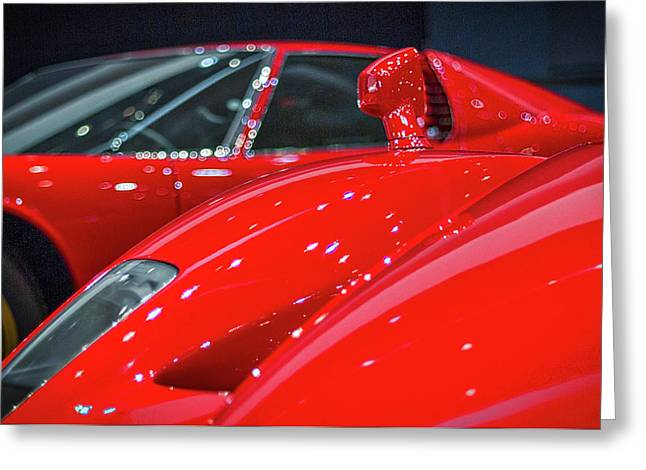 Ferraris At The Auto Show Greeting Card