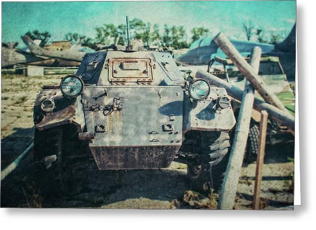 Ferret Armored Car Greeting Card