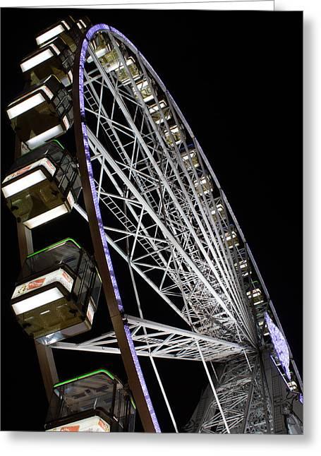 Ferris Wheel At Night 16x20 Greeting Card