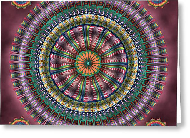 Ferris Wheel Greeting Card by Becky Titus