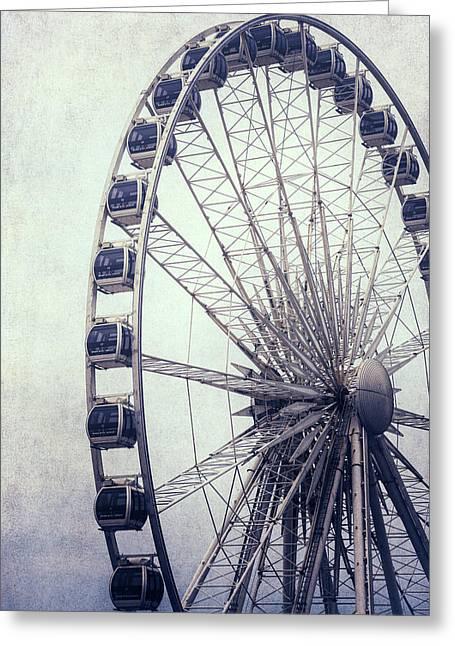 Ferris Wheel Greeting Card by Joana Kruse