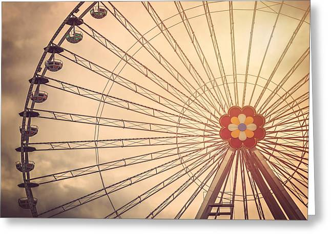 Ferris Wheel Prater Park Vienna Greeting Card by Carol Japp