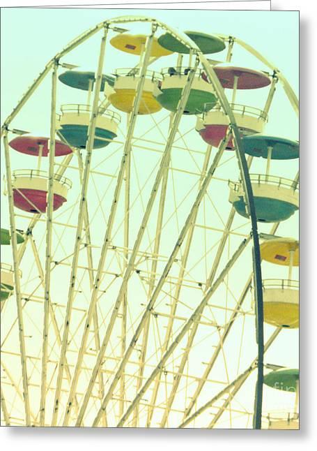 Ferris Wheel Greeting Card by Valerie Reeves