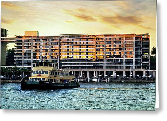 Ferry And The Toaster Greeting Card by Kaye Menner