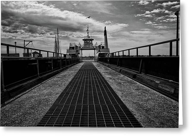 Ferry Boat Greeting Card by Bob Orsillo