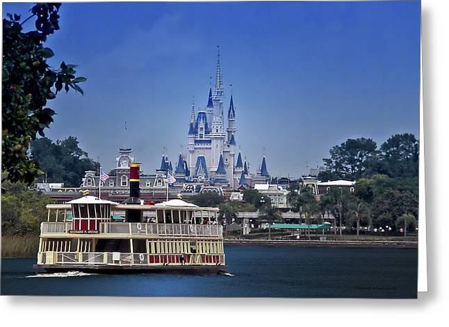 Ferry Boat Magic Kingdom Walt Disney World Mp Greeting Card