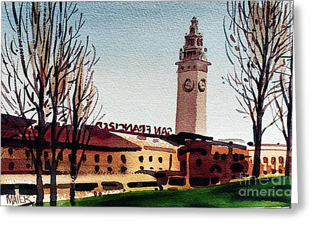 Ferry Building San Francisco Greeting Card by Donald Maier