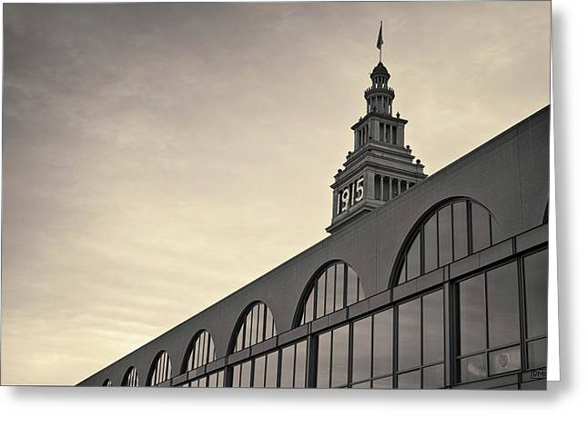 Greeting Card featuring the photograph Ferry Building San Francisco I Toned by David Gordon