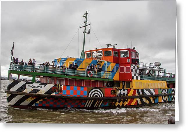 Ferry Cross The Mersey - Razzle Boat Snowdrop Greeting Card