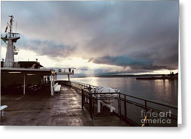Ferry Morning Greeting Card