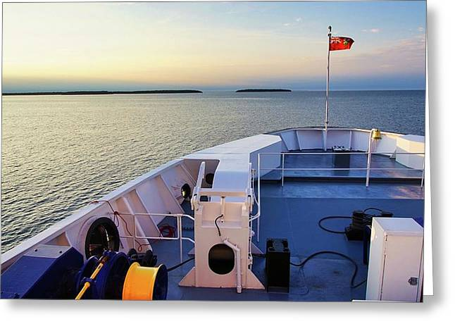 Ferry On Greeting Card