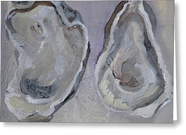 Ferry Oysters Greeting Card by Anne Seay