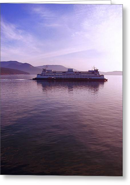 Ferry Ride Through The San Juans Greeting Card by Karla DeCamp