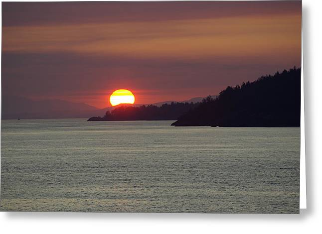 Ferry Sunset Greeting Card