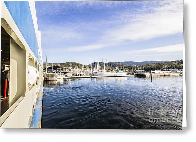 Ferry To Bruny Island Greeting Card