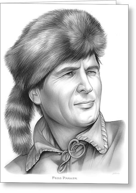Fess Parker Greeting Card by Greg Joens